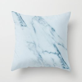 Teal Swirl Marble Throw Pillow