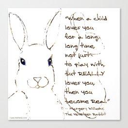 Minimalist Velveteen Rabbit Canvas Print