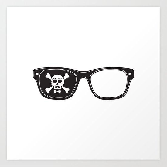 Hipster Pirate Art Print