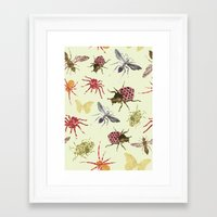 insects Framed Art Prints featuring Insects by Stag Prints