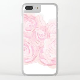 Shabby Chic Roes Clear iPhone Case