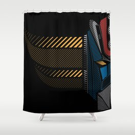 Goldrake Half Shower Curtain