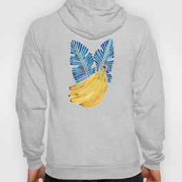 Banana Bunch – Navy Leaves Hoody