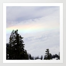 Mountaintop Rainbow Art Print