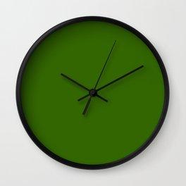 Simply Dark Green Wall Clock