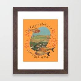 learnable skill Framed Art Print