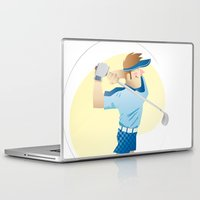 golf Laptop & iPad Skins featuring Golf by Dues Creatius