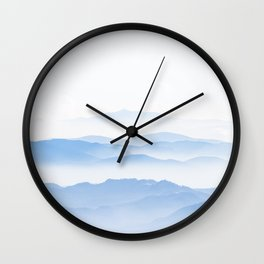 Foggy valley layers Wall Clock