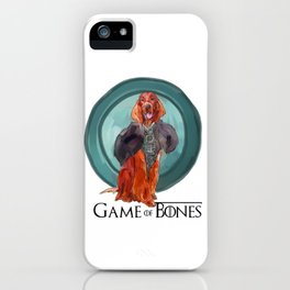Game of Bones Sonsa as an Irish Setter iPhone Case