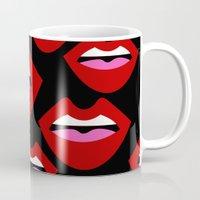 lips Mugs featuring Lips by Nastya Bo