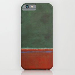 Green and Maroon - Mark Rothko iPhone Case