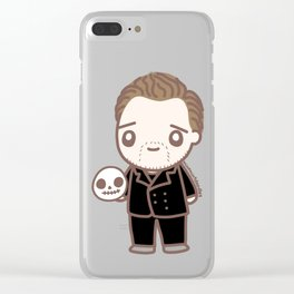 Tom as Hamlet Clear iPhone Case