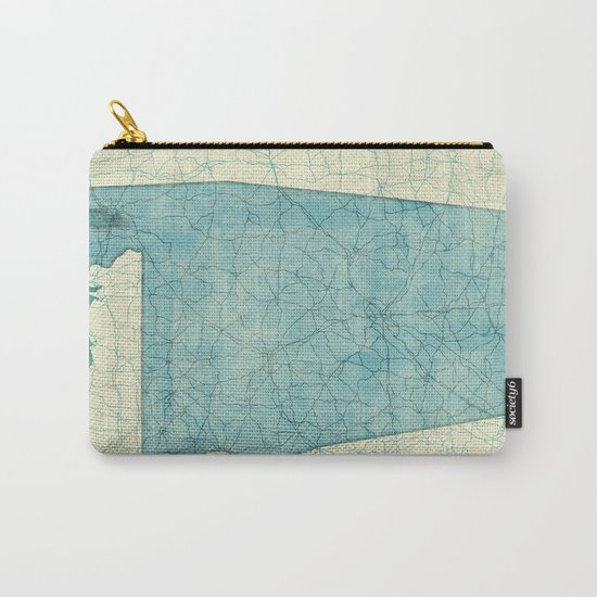 Alabama State Map Blue Vintage Carry-All Pouch