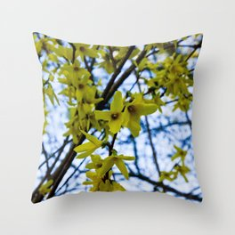 Yellow Flowers - Spring Arrives Throw Pillow