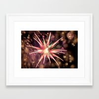 philippines Framed Art Prints featuring Fireworks - Philippines by David Johnson