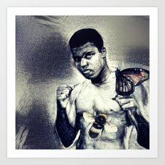 Ali- Float like a Butterfly sting like a bee Art Print