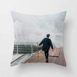 Storm in Odessa Throw Pillow