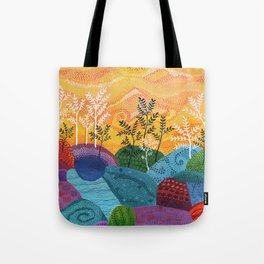 on and on fields Tote Bag