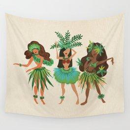 Luau Girls Wall Tapestry