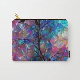 Love Birds Abstract Carry-All Pouch