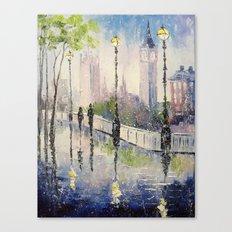 A walk in London Canvas Print