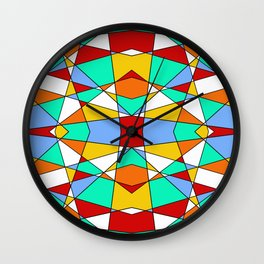 Geometric Shapes Wall Clock