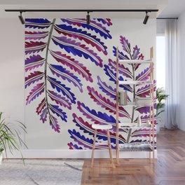 Fern Leaf – Indigo Palette Wall Mural