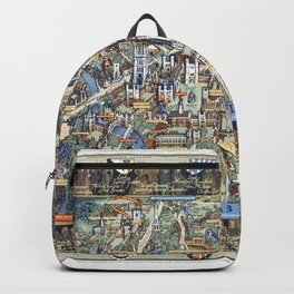Cambridge University campus map Backpack