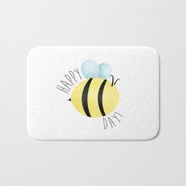 Happy Bee-Day Bath Mat