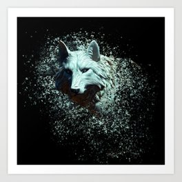 Of The White Wolf Art Print