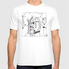 Out In The Woods Mens Fitted Tee MEDIUM White