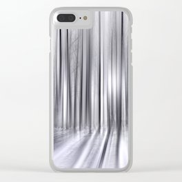 Winter Forest 31 Clear iPhone Case