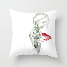 New Year Hair Throw Pillow