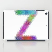 letter iPad Cases featuring Letter Z by David Zydd