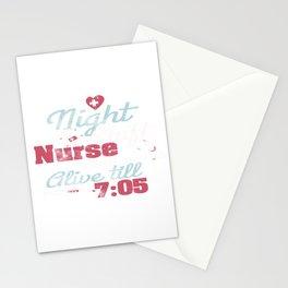 Night Shift Nurse Keep Them Alive Stationery Cards