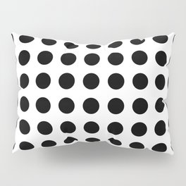 Simply Polka Dots in Midnight Black Pillow Sham