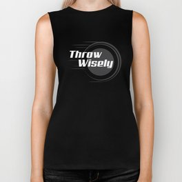 Throw Wisely Disc Golf T-Shirt Biker Tank