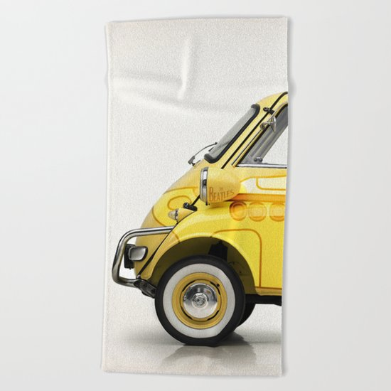Yellow Submaretta Beach Towel