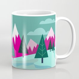 Monster Cat in the Mountains Coffee Mug