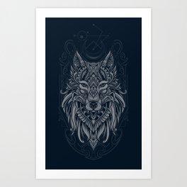 Wolf of North Art Print