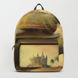 The Snail With The Castle Back Pulls The World Backpack