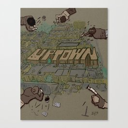 Drawing Uptown Canvas Print