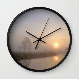 Silence at Sunrise Wall Clock