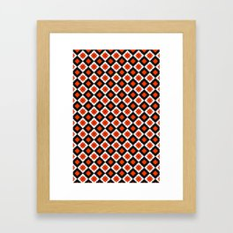 CHECK IT RED Framed Art Print