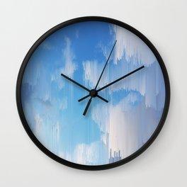 Glitch in the Sky Wall Clock