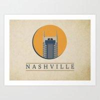 nashville Art Prints featuring Nashville by Grant Fisher