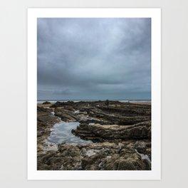 Stormy Tide Pool - Bude, England Art Print