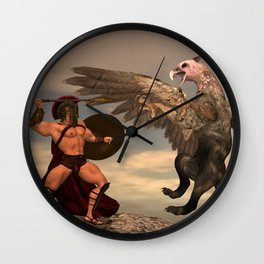 Griffin-Hunter Wall Clock