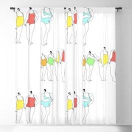 Bathers Blackout Curtain