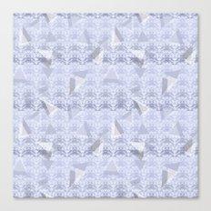 Floral Lace Collection - Blue Canvas Print